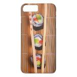 Sushi y palillos de madera funda iPhone 7 plus