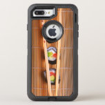 Sushi y palillos de madera funda OtterBox defender para iPhone 7 plus