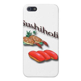 Sushiholic shrimp and tuna black iPhone SE/5/5s cover