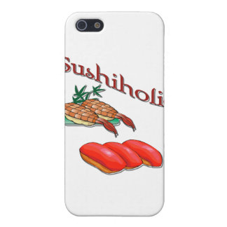 Sushiholic shrimp and tuna red iPhone SE/5/5s cover