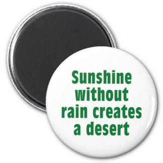 Sushine sin lluvia crea el desierto imán redondo 5 cm