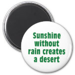 Sushine sin lluvia crea el desierto imanes