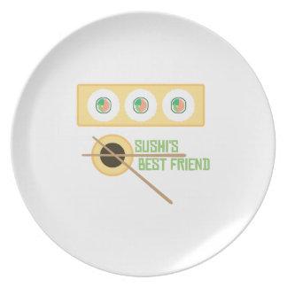 Sushi's Best Friend Dinner Plate