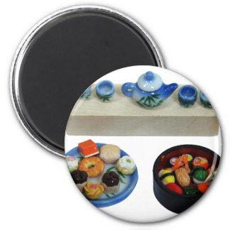 SushiTeaCakes041209 2 Inch Round Magnet
