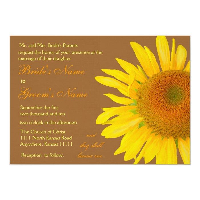 Susnflower 3 Wedding Card