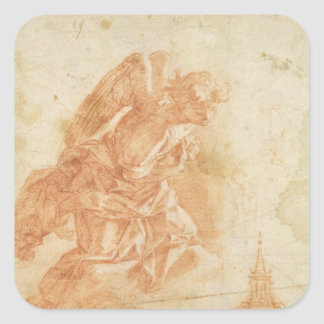 Suspended angel and architectural sketch c 1600 sticker