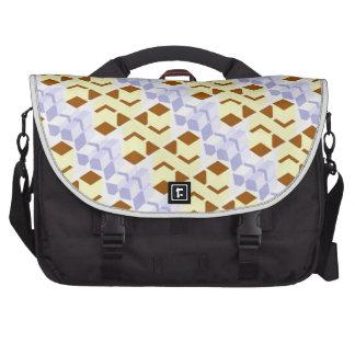 Suspended building blocks laptop messenger bag