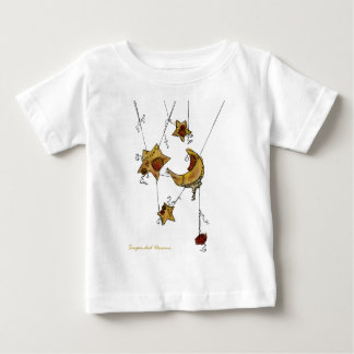 Suspended Crescent Moon and Stars Baby T-Shirt