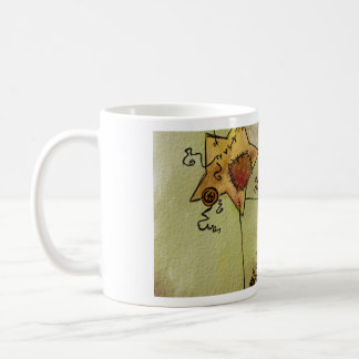 Suspended Crescent Moon and Stars Coffee Mug