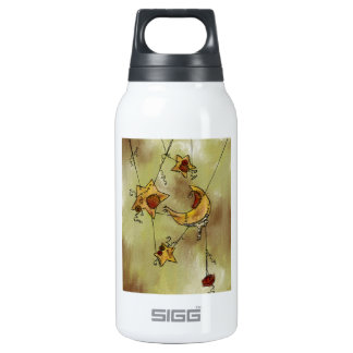 Suspended Crescent Moon and Stars Thermos Water Bottle