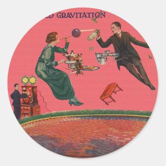Suspended Gravitation Classic Round Sticker