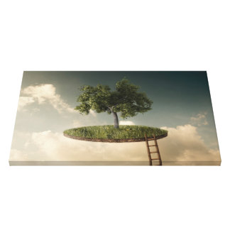 Suspended land canvas print