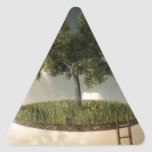 Suspended land triangle stickers