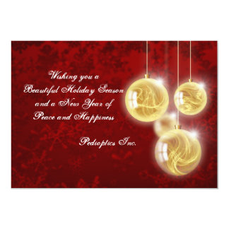 Suspended Ornaments - Personalized Business Holida Card