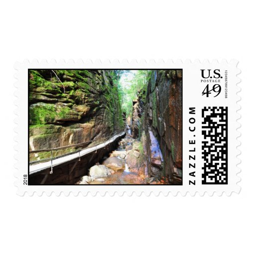 Suspended Path Stream Franconia Notch NH Stamps