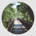 Suspended Walkway At Kings Park In Western Austral Round Sticker