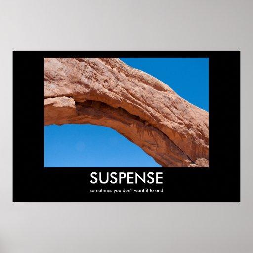 SUSPENSE demotivational poster