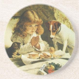 Suspense, Saying Our Prayers Charles Burton Barber Drink Coasters