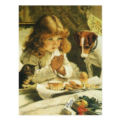 Suspense, Saying Our Prayers Charles Burton Barber Post Cards