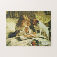 Suspense, Saying Our Prayers Charles Burton Barber Jigsaw Puzzle