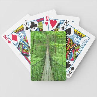 Suspension Bridge Bicycle Playing Cards