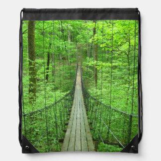 Suspension Bridge Drawstring Backpack