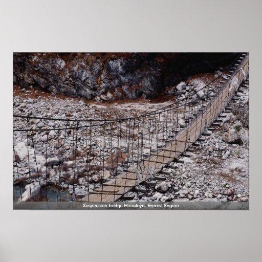 Suspension bridge Himalaya, Everest Region Print