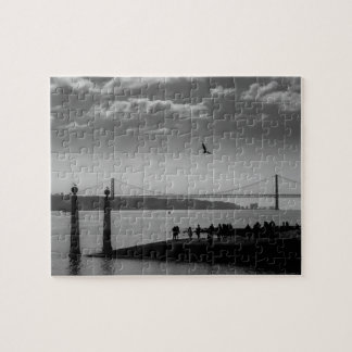 Suspension Bridge in Lisbon Jigsaw Puzzle