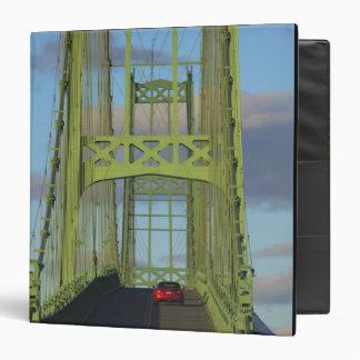 Suspension bridge onto Little Deer Isle 3 Ring Binders