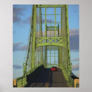 Suspension bridge onto Little Deer Isle Print