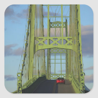 Suspension bridge onto Little Deer Isle Square Stickers
