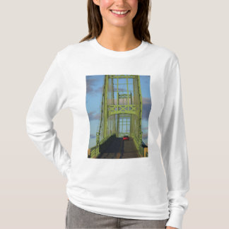 Suspension bridge onto Little Deer Isle T-Shirt