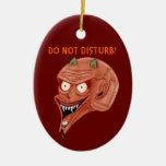 Suspensión de puerta de griterío del demonio adorno de navidad