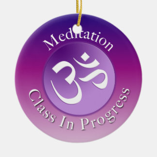 Suspensión de puerta de la clase de la meditación ornamento para arbol de navidad