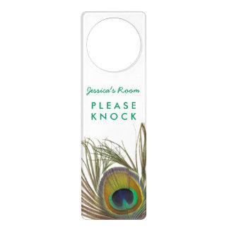 Suspensión de puerta de la pluma del pavo real colgantes para puertas