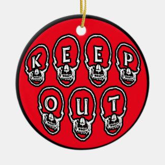 Suspensión de puerta para el sitio adolescente adorno navideño redondo de cerámica