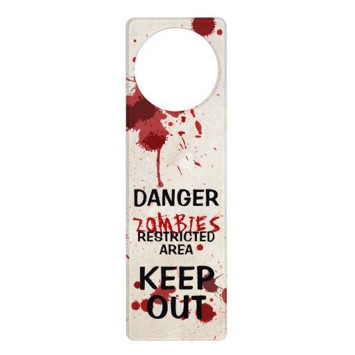 Suspensión de puerta salpicada sangre divertida de colgadores para puertas