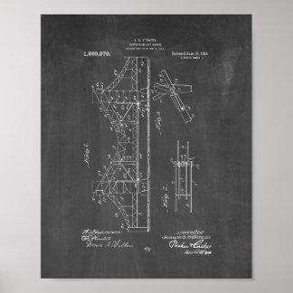 Suspension Lift-bridge Patent - Chalkboard Poster