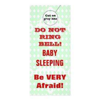 Suspensiones de puerta chistosas del bebé el dormi lona publicitaria