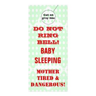 Suspensiones de puerta chistosas del bebé el dormi lonas personalizadas