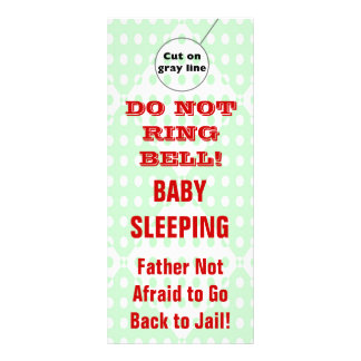 Suspensiones de puerta chistosas del bebé el dormi plantilla de lona