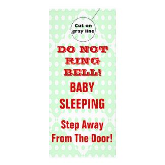 Suspensiones de puerta chistosas del bebé el dormi tarjeta publicitaria