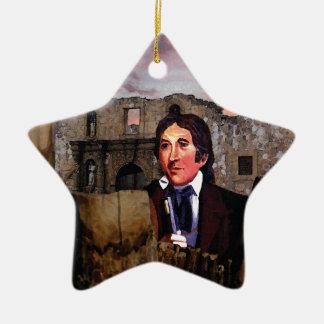 Suspenso del ocaso adorno navideño de cerámica en forma de estrella