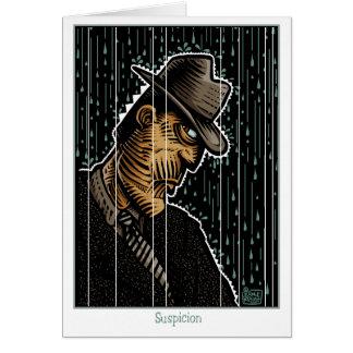 Suspicion Greeting Card