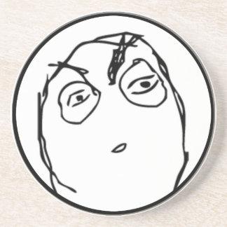 Suspicious comic meme drink coaster