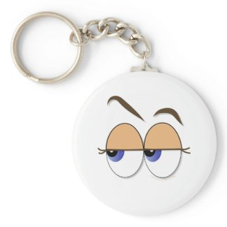 Suspicious Eyes Sideways Glance Eyeballs keychain