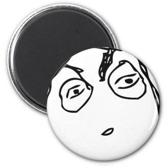 Suspicious Face 2 Inch Round Magnet