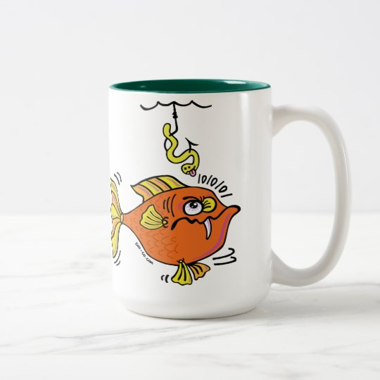 Suspicious Fish Two-Tone Coffee Mug