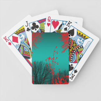Suspicious Journey Abstract Art Bicycle Playing Cards