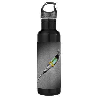 Suspicious looking syringe water bottle